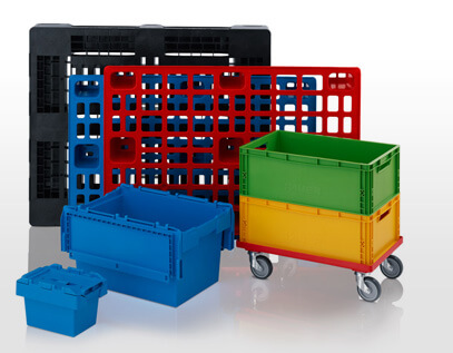 Plastic Pallet Boxes and Stackable Containers